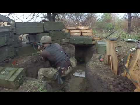 Ukrainian Soldiers Firefight