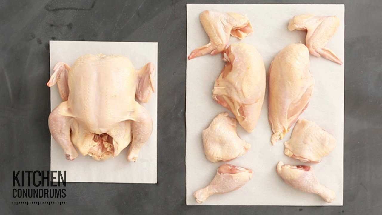 How To Cut A Chicken Into 8 Pieces In Under A Minute Kitchen Conundrums With Thomas Joseph Youtube