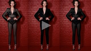 ceft and company: x-ray never underdressed ad with model cris herrmann director karen collins Thumbnail