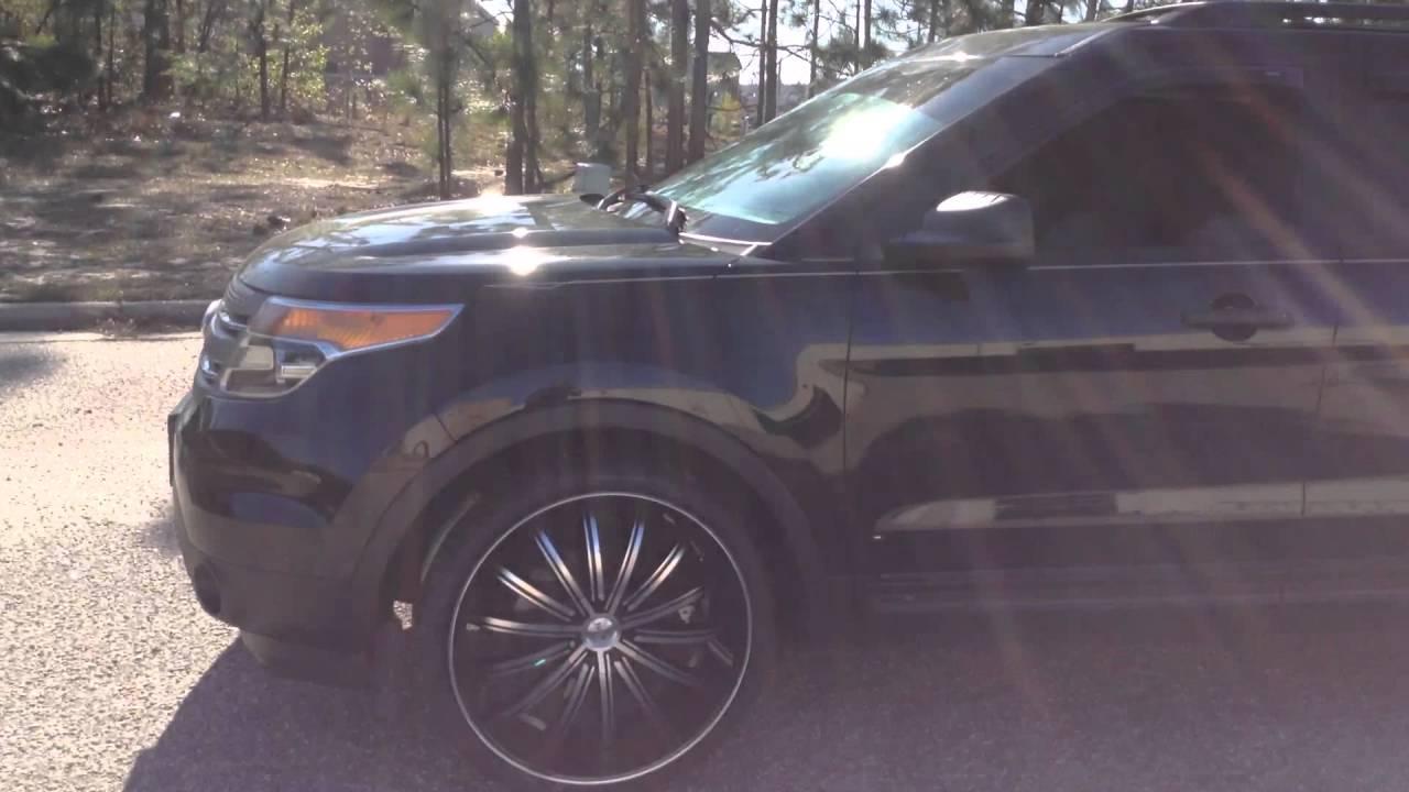Rimtyme Spring Lake 2014 Ford Explorer On 24 Quot Noir Rims