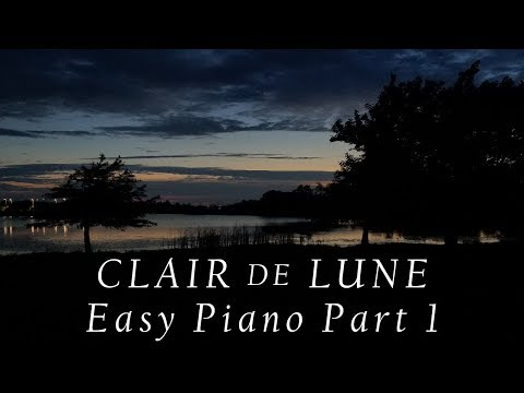 Clair De Lune Easy Piano Tutorial Part 1/Sheet Music