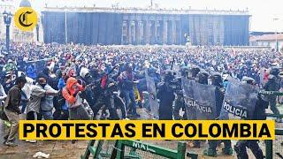 PROTESTAS EN COLOMBIA por la reforma tributaria en medio de un grave repunte de casos de coronavirus