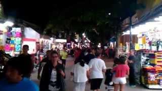 Playa del Carmen - Walkthrough at Night
