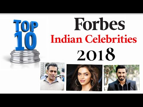 Forbes Top 10 Indian Celebrities 2018 | Rich Indian Actors In 2018