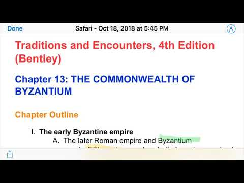 APWH: The Byzantine Empire (Ch  13 Traditions & Encounters