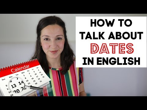 How to Talk about DATES in English