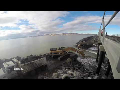 New Breach Allows Flow on the Great Salt Lake