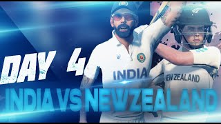 Day 4 Highlights - India vs New Zealand   WTC Final 2021 IND vs NZ    Cricket 19