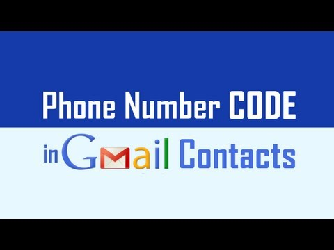 Select Country For Phone Code In Gmail Contacts
