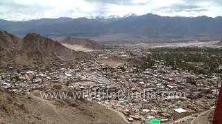 Leh city, as seen from Leh Palace and other high vantage points - Ladakh