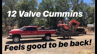 PUTTING THE NEW 12 VALVE CUMMINS TO WORK! kinda.. WELDING RIG!