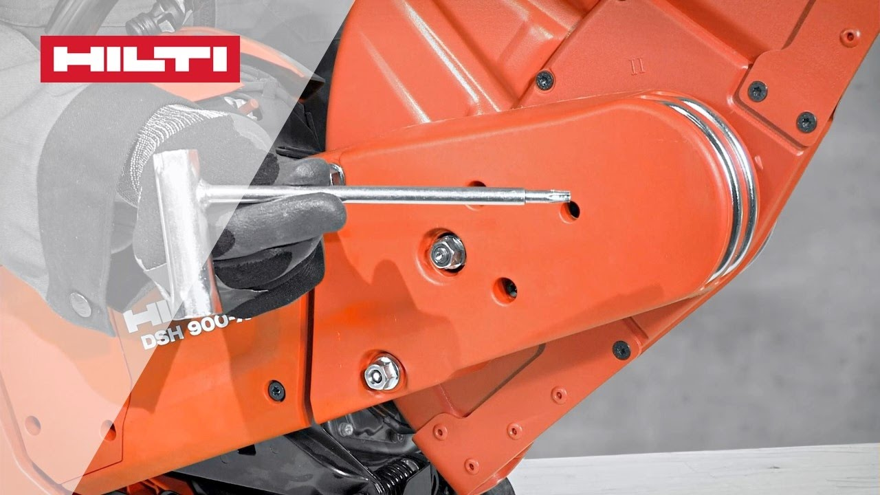 How To Change Your Hilti Dsh 700  Dsh 900