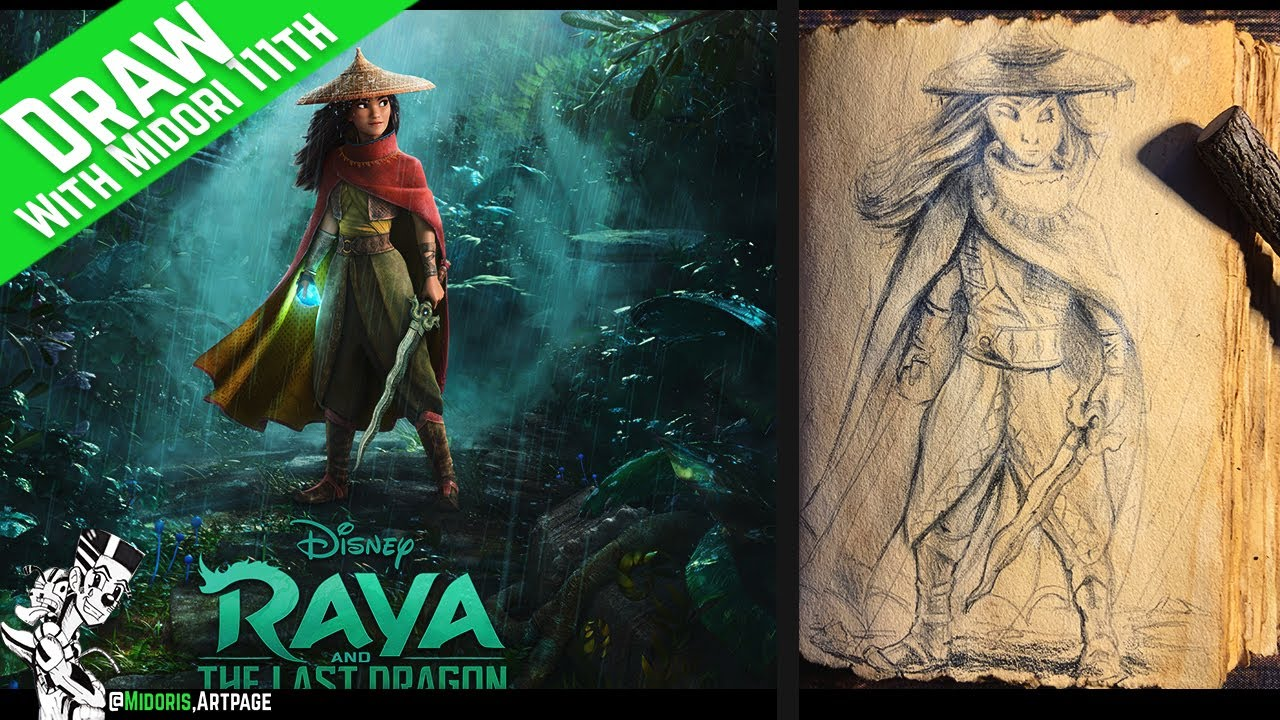 Lets Draw Raya and the Last Dragon