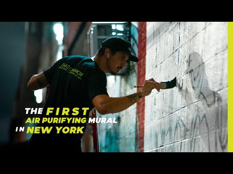 The First Airpurifying Mural in NYC, powered by Smog Armor