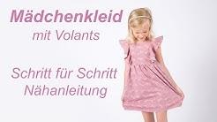 Mädchenkleid mit Volant - Schritt für Schritt - Nähanleitung