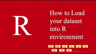 How to load datasets in R from different formats