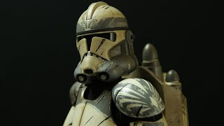 Sideshow Collectibles STAR WARS 104th Wolfpack Clone Trooper Review 1/6 Scale