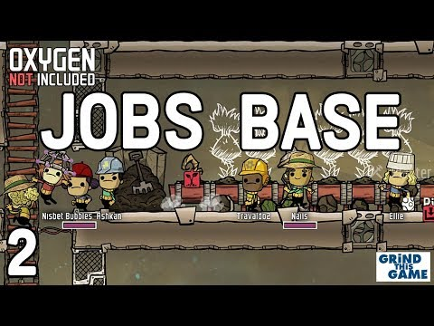 Oxygen Not Included - Occupational Upgrade Base #2 (JOBS, HATS & CONVEYOR RAILS)