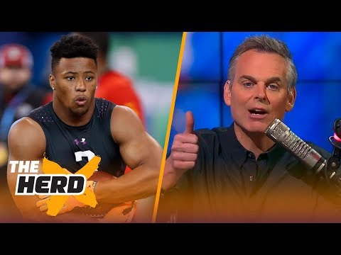Colin Cowherd on Saquon Barkley and Lamar Jackson's draft stock after 2018 NFL Combine | THE HERD