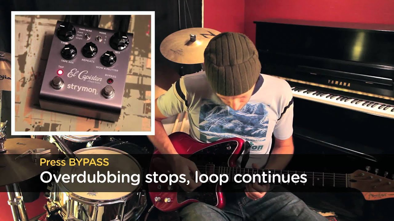 capistan sound on sound looping tips turning off overdubbing