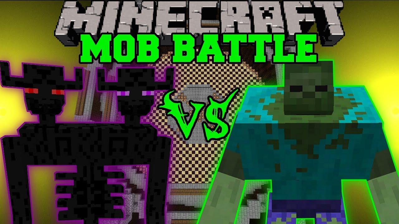 Mutant zombie vs ender titan minecraft mob battles - Minecraft zombie vs creeper ...