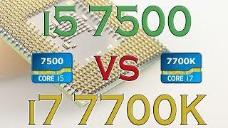 i5 7500 vs i7 7700k benchmarks gaming tests review and comparison kaby lake vs kaby lake