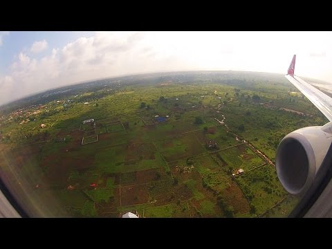 B737-900 ER Tanzania, Zanzibar, Abeid Amani Karume International Airport Landing by GoPro Hero2