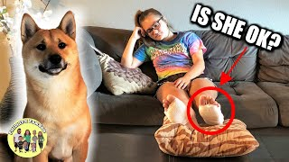 SAVED DOG'S LIFE  | SHE GOT SECOND DEGREE BURNS ON HER FEET (GRAPHIC BLISTERS) IS SHE OKAY?