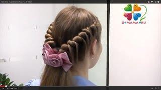 Прическа для девочки со жгутами и косами. Праздничная или повседневная