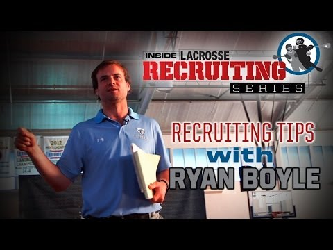 Lacrosse Recruiting Tips with Ryan Boyle