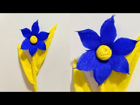 How To Make Paper Flower From Crepe Paper | DIY Paper Crafts