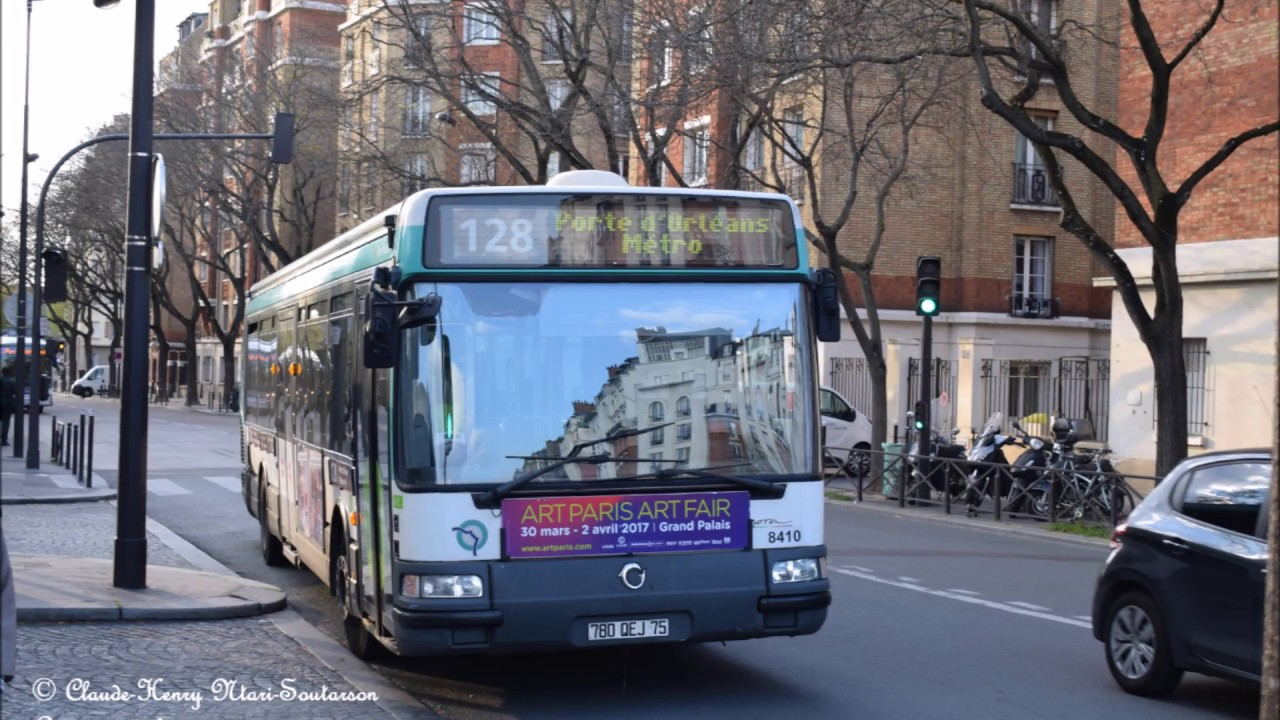 la ligne de bus ratp 128 porte d 39 orl ans robinson rer youtube. Black Bedroom Furniture Sets. Home Design Ideas