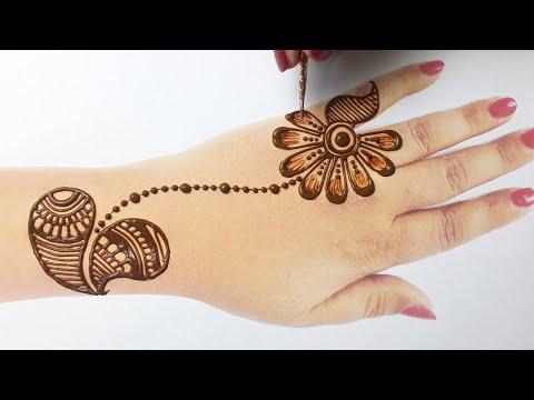 Beautiful Arabic Henna Mehndi Design || Simple Mehndi Design 2020 || Easy Mehndi for Beginners