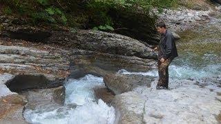 Сельский туризм. Ловим форель в горной реке