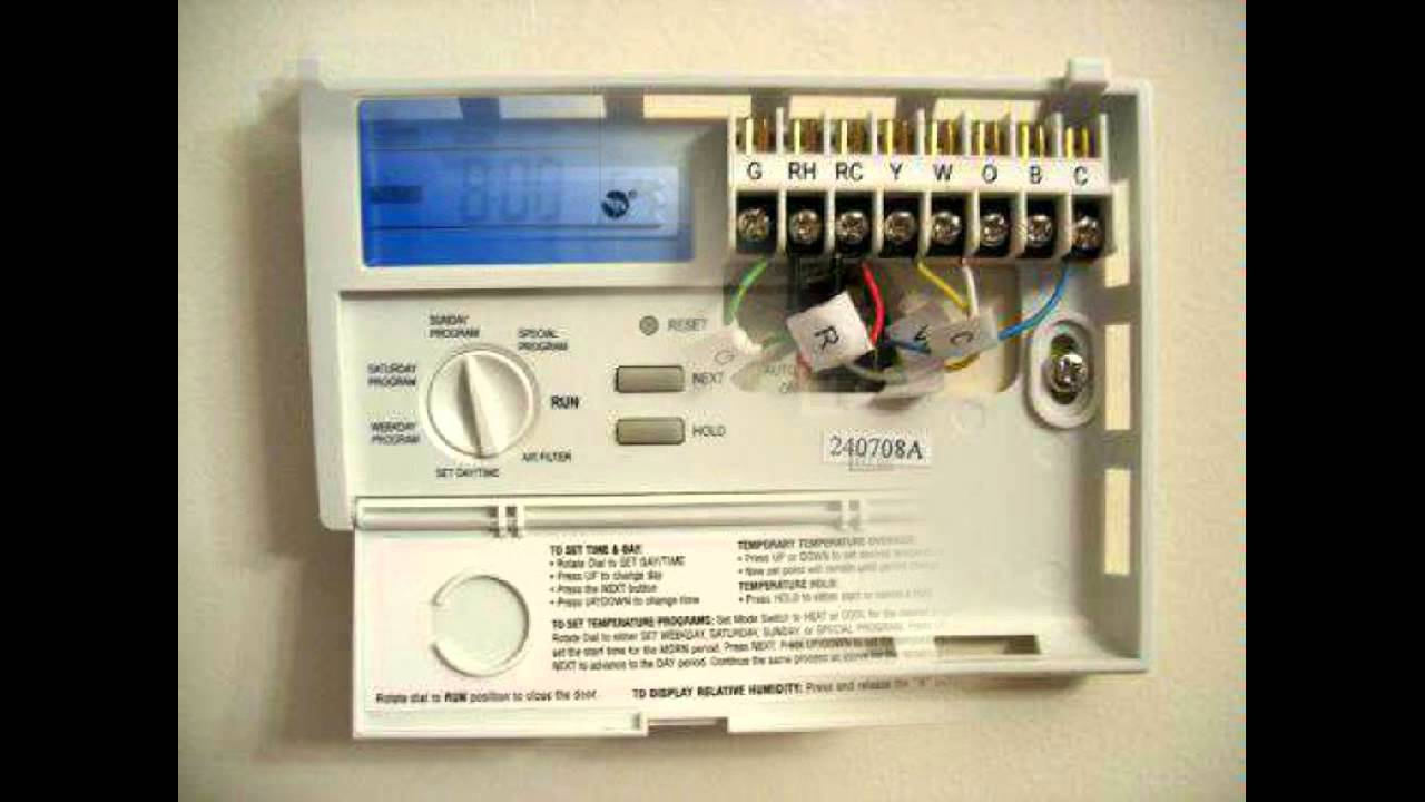 honeywell dt90e digital room thermostat wiring diagram allen bradley motor control diagrams bjg lektionenderliebe de programmable lux products tx1500e youtube rh com emerson
