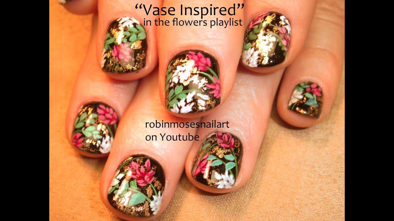 Nail Art for Short Nails | Floral Bouquet Nails 5 | DIY flower ...