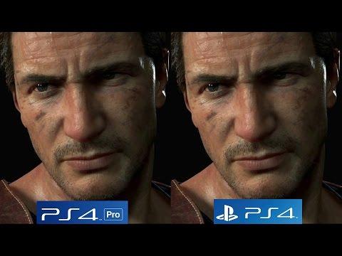 4K/60FPS] Uncharted 4: PS4 vs PS4 Pro 4K vs PS4 Pro 1080p