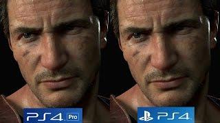 [4K/60FPS] Uncharted 4: PS4 vs PS4 Pro 4K vs PS4 Pro 1080p