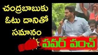 YS Jagan Powerful Punch to AP CM Chandrababu   Dharuvu TV