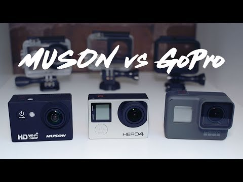 Muson MC1 Budget Action Camera Review | Compared with GoPro Hero, 4 Silver and 5 Black