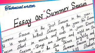Summer season essay in english video essays on canterbury tales the knight