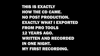 My Very First Recording