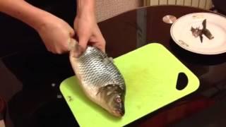 Кулинарные секреты. Чистим рыбу без ножа.