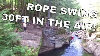 crazy rope swing 30ft in the air