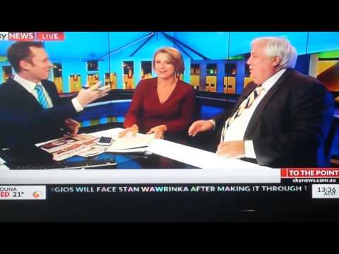 """Clive Palmer calls Kristina Keneally """"not the best journalist"""" ON HER OWN SHOW!"""