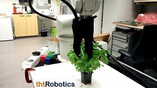 Adaptive Robotic Gripper (3 finger). Handling different herbs