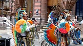 South American Indians in York 2014.