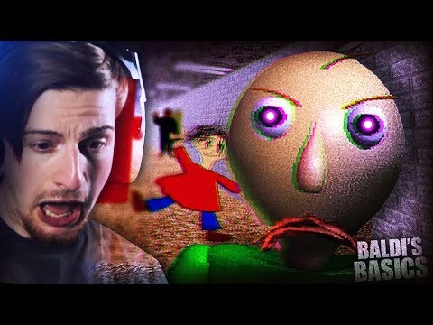 HOW IS THIS GAME SO SCARY || Baldi's Basics (Creepy Horror Game)