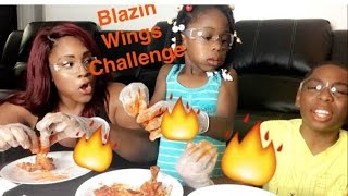 Blazin Buffalo Wild Wings Challenge with Kids Video