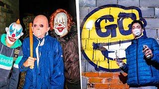 Hago un graffiti de Fortnite en una fábrica abandonada... *me persiguen*